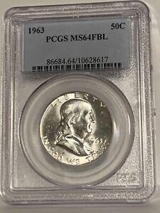 1963 Franklin Half Dollar (MS 64 FBL) PCGS