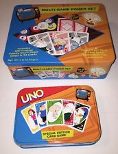 Family Guy Game Bundle - Multi Game Poker Set and UNO