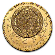 Random Year 0.4823 oz / 15.0 gram Mexican 20 Pesos Gold Coin