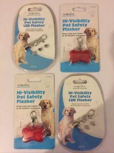 1-4 Lot PET SAFETY LED FLASHER HI VISIBILITY DOG COLLAR FLASHING NIGHT LIGHT