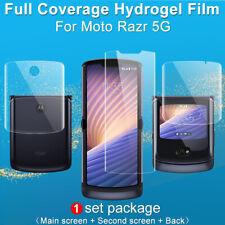 For Motorola Moto Razr 5G IMAK Clear Full Coverage Soft TPU Hydrogel Screen Film