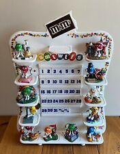 Danbury Mint M&M Perpetual Calendar 12 Figurines 11 Holiday Tiles