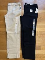 Lot Of 2 Old Navy Pixie Womens Pants Size 14 Regular BLack Tan NEW WITH TAGS
