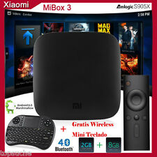 2GB+8GB Xiaomi MIBOX 3 Android 6.0 S905X 4K Smart TV BOX Dual-Wifi +Mini Teclado