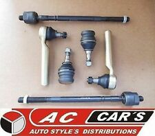 2 Inner 2 Outer Tie Rod End 2 Lower Ball Joints SUBARU Impreza Forester Suspens
