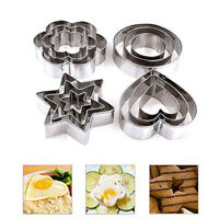 12pcs Stainless Steel Mold Sugarcraft Biscuit Cookie Cake Pastry Baking Cutter