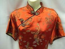 Chinese Dress ~ Red Satin  ~ Fancy dress ~ Hire Quality ~ 16 - 18