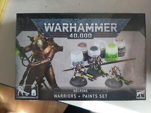 WARHAMMER 40K ~ NECRONS WARRIORS + PAINT SET new & sealed free postage!