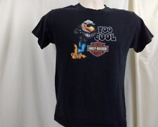 Vintage Harley-Davidson 100% Cotton Black Short Sleeve Too Cool T-Shirt Youth L