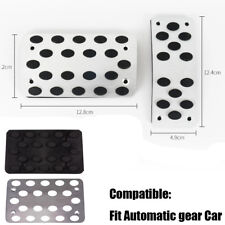 2PCS AT Automatic Car Metal Transmission Pedals Pads Pedal Non-Slip Covers
