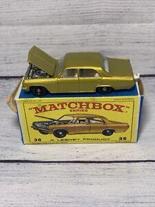 MATCHBOX – No. 36 Opel Diplomat - Unused in Original Box 1/64