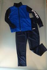 ADIDAS wunderschöner Sportanzug Zweiteiler Gr.140, blau/dunkelblau, neuwertig!