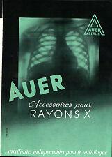 """DEPLIANT PUBBLICITARIO MEDICINALE """" AUER """" RAYONS X BERLIN 11-279"""