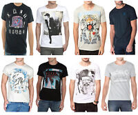 Diesel New Men's Fashion T-shirts Crew & Vee Neck Cotton Print Plain Tee Top