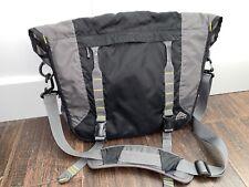 Kelty Treble Light Black/Grey Messenger Laptop Computer Adjustable Shoulder Bag