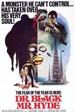 24X36Inch Art DR BLACK MR HYDE Movie Poster Horror Blaxploitation P40