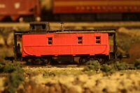 N Scale Trix made in Austria Repainted Red Caboose No Road Name or Number Lot #1