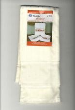 Cross Stitch ~ DMC Ecru Aberdeen Velour Hand Towel w/14 Ct Aida #VT-6701-2724