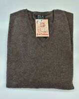 PULL TAILLE XL SWEATER HOMME 100% PUR CASHMERE CACHEMIRE PURE JOS A BANK BRAUN