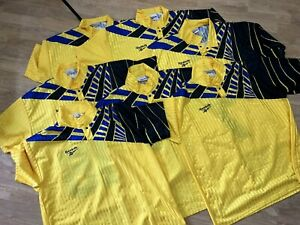 LOT OF 11 SHIRT TEAM VINTAGE TEMPLATE REEBOK 1990s SOCCER JERSEY STYLE