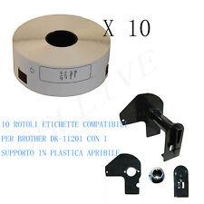 10 Etichette per Brother DK-11201 29x90mm QL 500 QL 500A QL 550 QL 560 VP QL 570