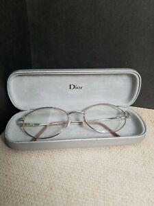 Vtg 70s Adensco Gabby Italy Eyeglasses Glasses Frames Light Pink Silver Case
