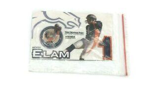 Denver Broncos Jason Elam Collectible Pin on Original Promotional Card