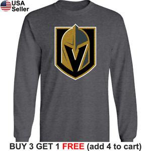 Las Vegas Golden Knights Long T-Shirt Men Cotton LVGK Graphic VGK