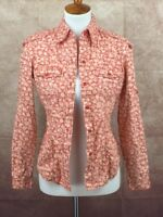 The Limited Floral Print 100% Cotton Long Sleeve Shirt Blouse Top Women's XS