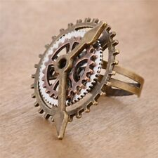 Clock 3 Rings Gears Steam Fashion Jewelry Fingering Copper Rings Party Jewelry