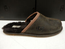 UGG MENS SLIPPERS SCUFF DECO LEATHER STOUT SIZE 10