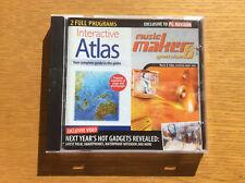 Vintage PC Advisor Software CD-ROM, Interactive Atlas, Music Maker 6, Corel Mini
