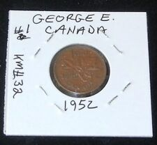 #1 1952 Canada King George VI One Cent Coin ~ Nice Condition (Ungraded)