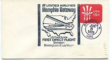 FFC 1979 First Flight United Airlines Memphis Gateway Birmingham & Las Vegas