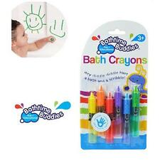6pcs/set Bathtime Kids Baby Bath Crayons Fun Toys Non Toxic Crayoning Pen FW