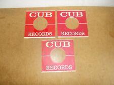 3 X ORIGINAL FACTORY RECORDS SLEEVE 45 RPM - CUB RECORDS (258)