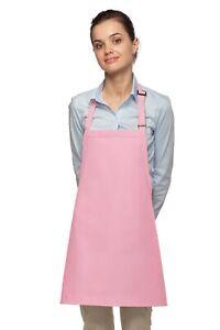 Daystar Aprons 1 Style 200NP PINK No pocket bib apron ~ Made in USA