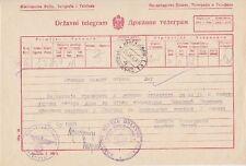 Serbien Telegramm Krgujeval Kreiskommandantur 1942, Besetzung WW II