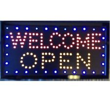 Animated Motion LED Business Open Welcome  Open SIGN +On/Off Switch Bright Light