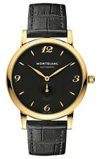 107340 | BRAND NEW AUTHENTIC MONTBLANC STAR CLASSIQUE 39MM GOLD MENS WATCH
