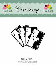 "Stempel ""Playing Cards"" Dixi Craft, Clear Stamp, Spielkarten, Poker, Skat"