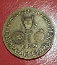 FC Bayern München FC Porto Endspiel 1987 große Medaille fast 200 Gramm schwer