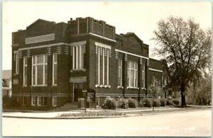 TRACY, Minnesota RPPC Real Photo Postcard METHODIST CHURCH Street View 1940s