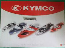 KYMCO MOTO SCOOTER 2001 POSTER  DEPLIANT BROCHURE  PUBBLICITA PROSPEKT RECLAME