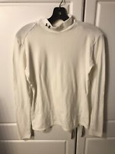 Men's Large Under Armour HEAT GEAR Long Sleeve Compression Shirt White