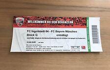 Sammler Ticket FC Ingolstadt - FC Bayern München 11.02.17 FCB