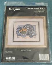 Janlynn Delft Blue Still Life Counted Cross Stitch Kit #157-27 Vtg 1994 NIP
