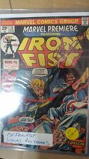 Avengers comic lot Marvel premiere 15 first iron fist signed roy thomas vf