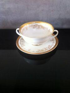 Royal Doulton 2 handle soup bowl in the Belmont pattern x 4