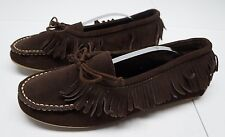 American Eagle Outfitters Womens 11 M Brown Suede Leather Moccasins